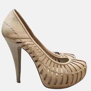 BCBGeneration beige leather heels